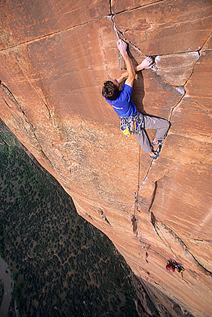 Matt Wilder, Moonlight Buttress, Zion National Park